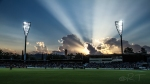 A picture of Manuka Oval at sunset.