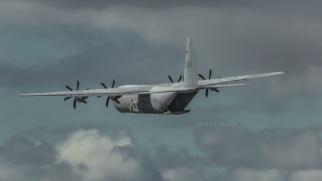Hercules - crew member visible in cargo bay